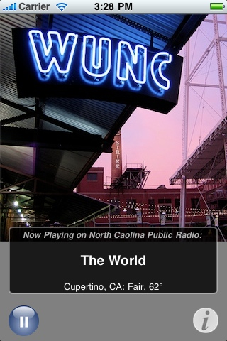 The WUNC app